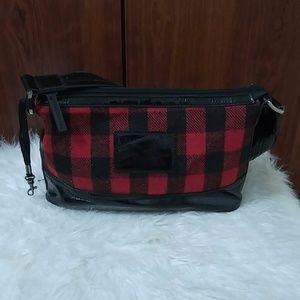 American Living red and black plaid shoulder bag
